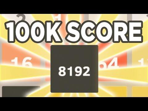 2048: 8192 Tile + 100,000 Score!