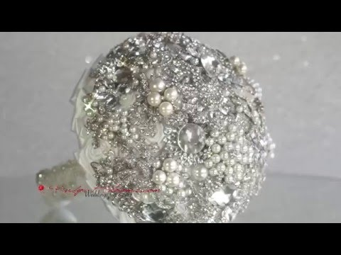 The Pure Pearl Wedding Brooch Bouquet by Ruby Blooms