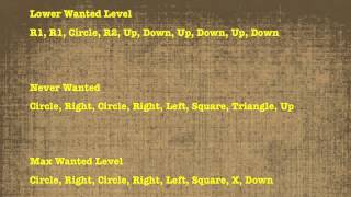 GTA San Andreas - All Cheat Codes (PS2 & PS3)