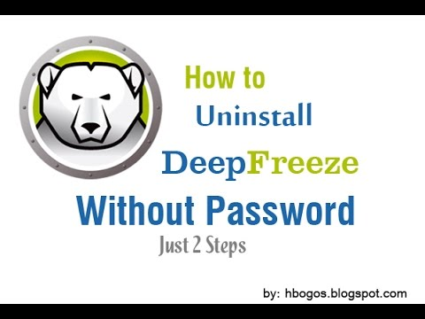 How to Uninstall Deep Freeze Without Password: [ Just 2 Step ]