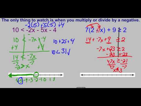 Solving Two Step and Multi Step Inequalities Video
