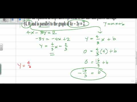 Parallel Lines Equation Problem