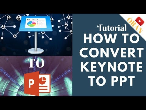 How To Convert Keynote File to Microsoft Power Point Presentation Format. (Easy, Builtin, Fast.)