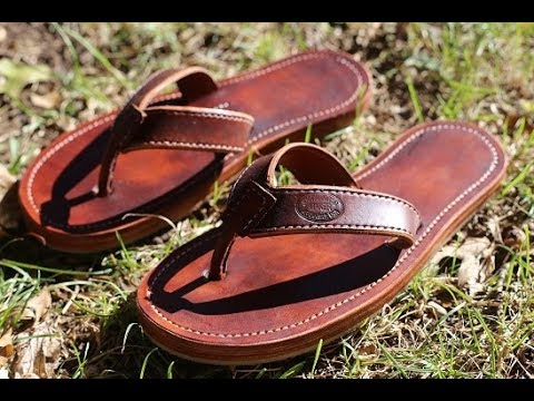How I make a pair of leather flip flops