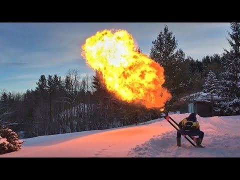 How To Make A Potato Gun FLAME THROWER!