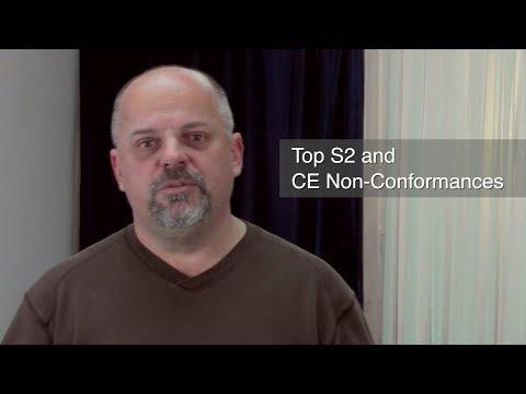 Top S2 and CE Non Conformances