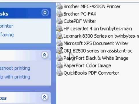 How to change the default printer in Windows XP