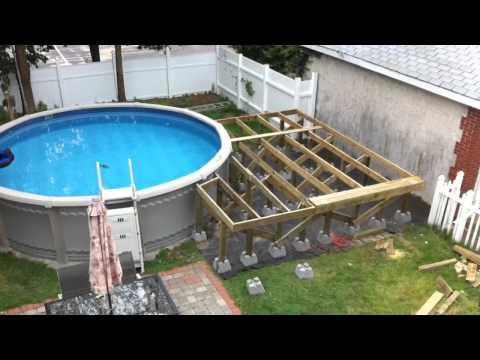 Backyard pool and deck
