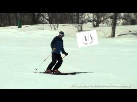 Ski Lesson Video for basic parallel turns from Niseko