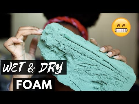 ASMR CRUSHING WET AND DRY FLORAL FORM | SATISFYING