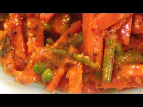Achar Carrot Pickles Recipe