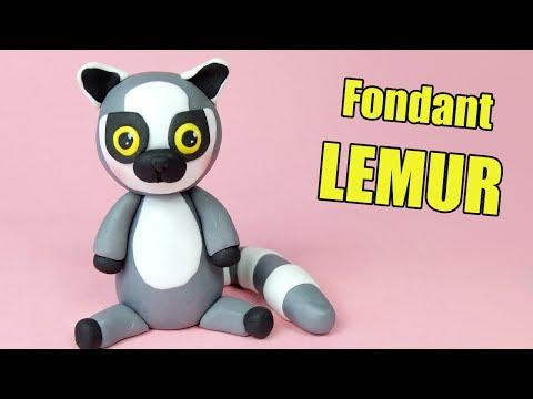 Lemur Cake Topper Tutorial / How to make fondant Lemur