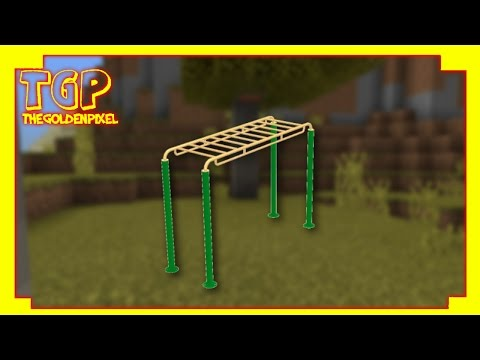 Minecraft PE: How to make Monkey Bars