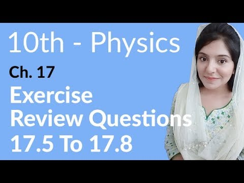 10th Class Physics Ch 17,Review Question 17.5 to 17.8 -Matric Part 2 Physics Chapter 17