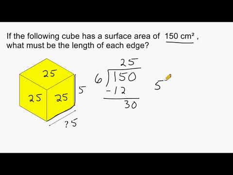 Find Missing Side Length Of Cube Given Its Surface Area