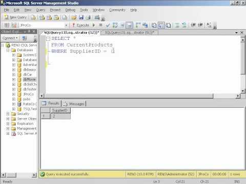 Basic Subqueries in SQL Server