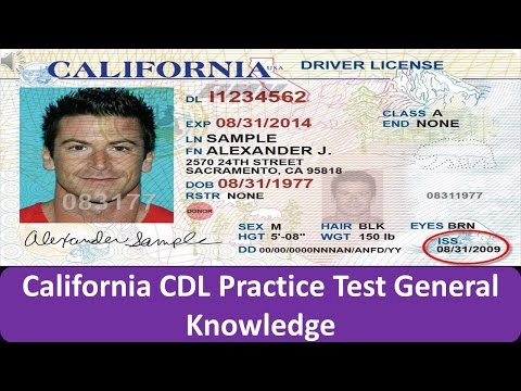 California CDL Practice Test General Knowledge