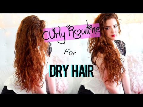 Curly/Wavy Hair Routine for Dry Hair!