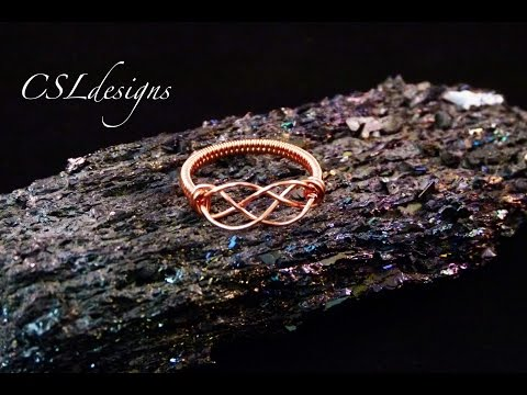 Celtic knot wirework ring