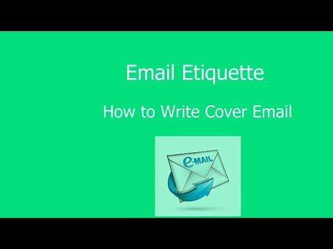 Email Etiquette: How to Write Professional Cover Letter with sample