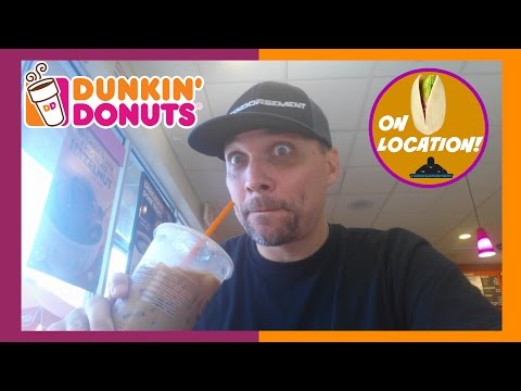 DUNKIN DONUTS NEW PISTACHIO / MOCHA ICED COFFEE REVIEW # 240