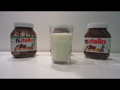 Lifehack: How to make Chocolate milk straight from the Nutella  jar