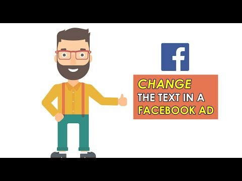 How To Change The Text In A Facebook Ad