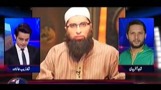 Shahid Afridi talking about Junaid Jamshed death