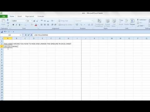 How to Hide and Unhide Gridlines in  Excel WorkSheet
