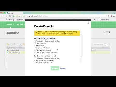 Quickly Delete Domain From GoDaddy Account