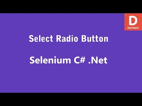 Selenium C# Select Radio Button