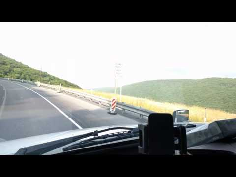 STEEP GRADE Trucking: Driving a Volvo Semi Truck Uphill 77 Thousand Pounds!