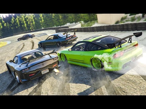 CRAZY GTA 5 ONLINE DRIFTING! - (GTA 5 FiveM Drift Server)