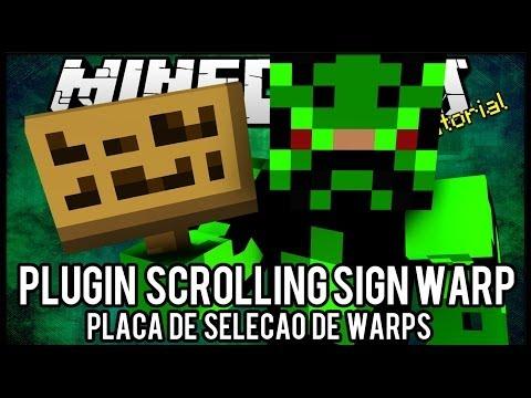 [Tutorial]Scrolling Sign Warp - Placa de Seleção de Warps Minecraft