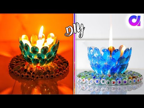 how to make candle holders at home | Cand stand | DIY | Artkala 279
