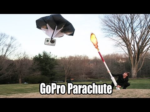 GoPro Parachute Nerf Gun Cannon - INSANE! (GoPro in Cannon)
