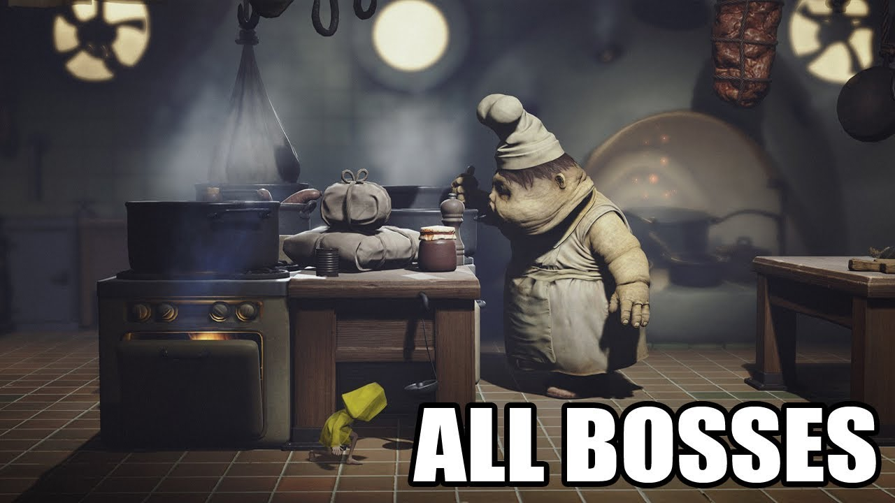 Little Nightmares - All Bosses (With Cutscenes) HD 1080p60 PC