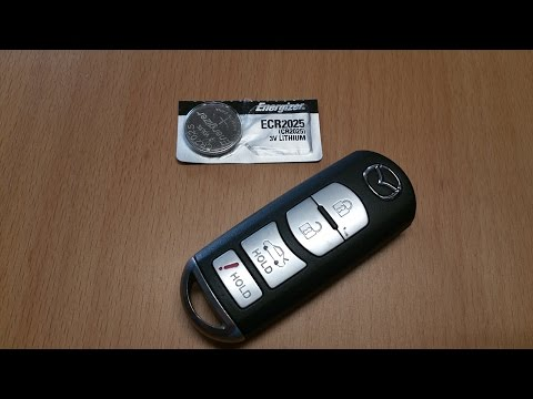 Mazda remote key fob battery replacement (older style)