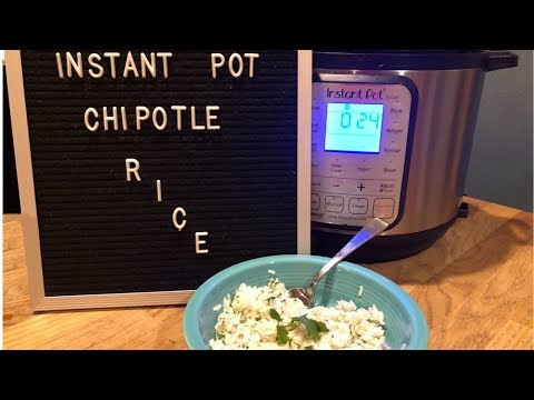 Instant Pot: Chipotle Lime Rice
