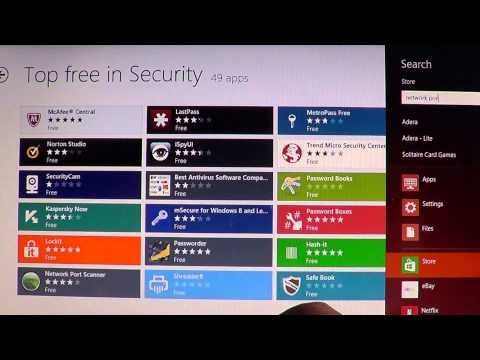 Windows 8 Network port scanner security app review