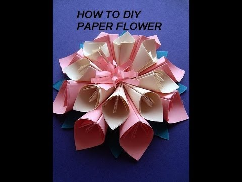 How to make paper flowers paper flower making video free download paper flower kanzashi how to diy paper crafts wall decor paper art mightylinksfo