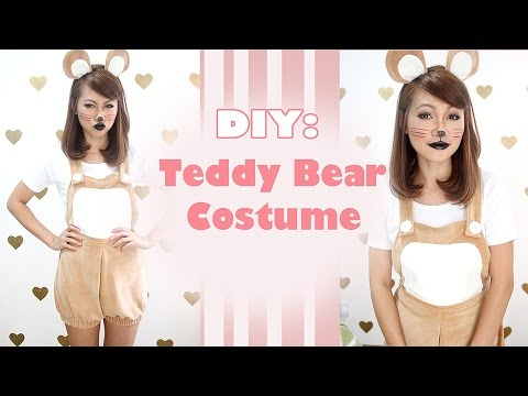 DIY: Teddy Bear Dungaree Costume