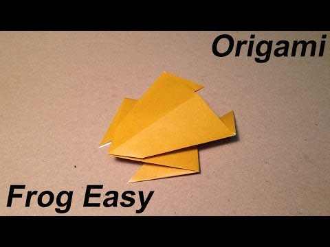 How to make an Origami Frog / Easy for Children