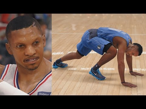 NBA Live 18 The One Career - 1st Game Got Em Leaning!