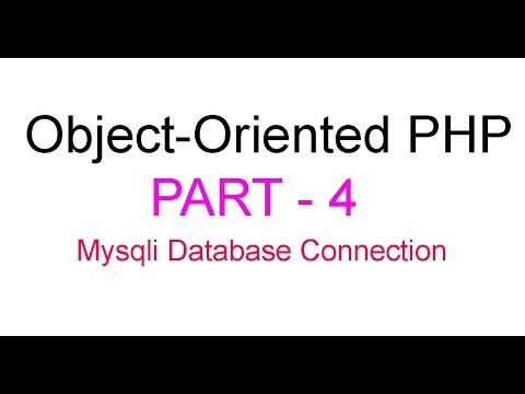 Object-Oriented PHP Bangla Tutorial Part-4(Mysqli Database connection by construct)
