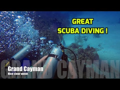 Scuba Diving at the Grand Cayman Island.  Ep119