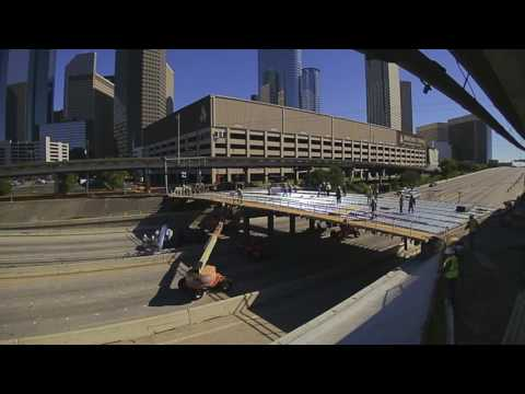 Reconstruction of the W. Dallas Bridge over IH 45 in Downtown Houston