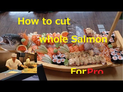 Chef Keiichi How to cut Whole Salmon ☆