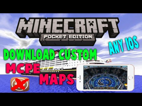 How to Download Minecraft PE Maps on ANY iOS! (NO JAILBREAK)
