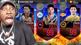 NEW 99 OVR LONZO BALL & MARKELLE FULTZ IN SIGNATURE PACK OPENING! NBA Live Mobile Gameplay Ep. 151